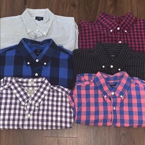 LOT of 6- J. Crew Button Up Casual Dress Shirts
